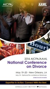 2016 AICPA/AAML National Conference on Divorce Brochure
