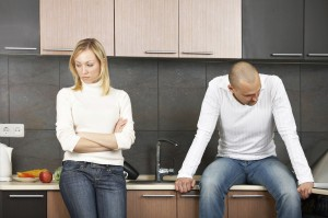couple dealing with prenuptial agreements and religious principles