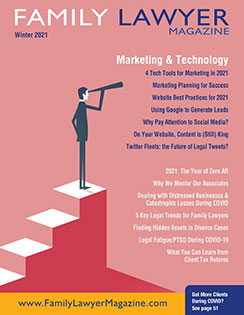 Family Lawyer Magazine's Winter 2021 Issue